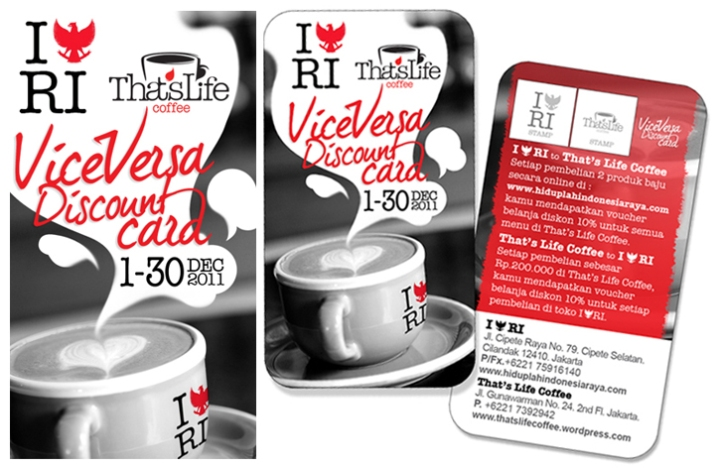 Vice Versa Discount Card with I {Garuda} RI store.